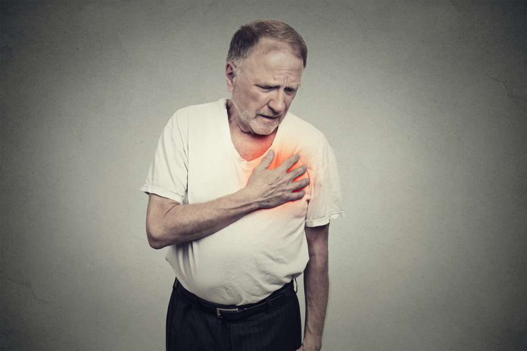 old man with heart disease