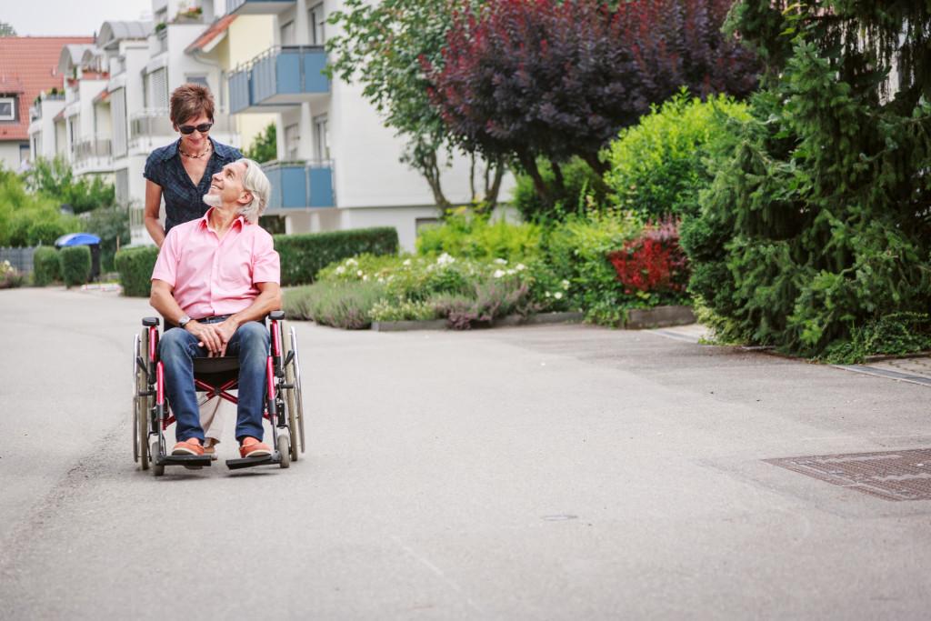 man in senior care