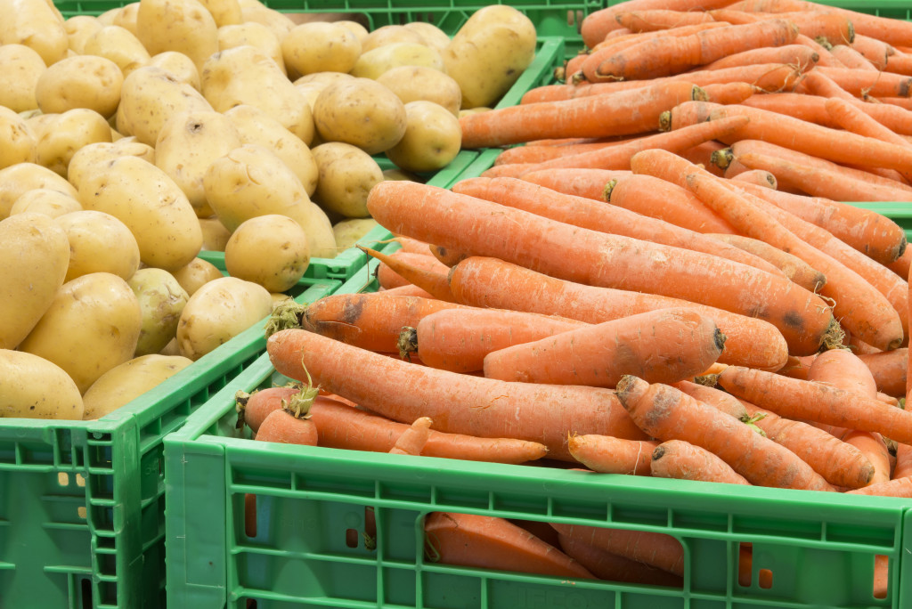 carrot and potatoes